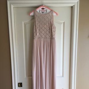 Adrianna Papell Blush Pink Gown